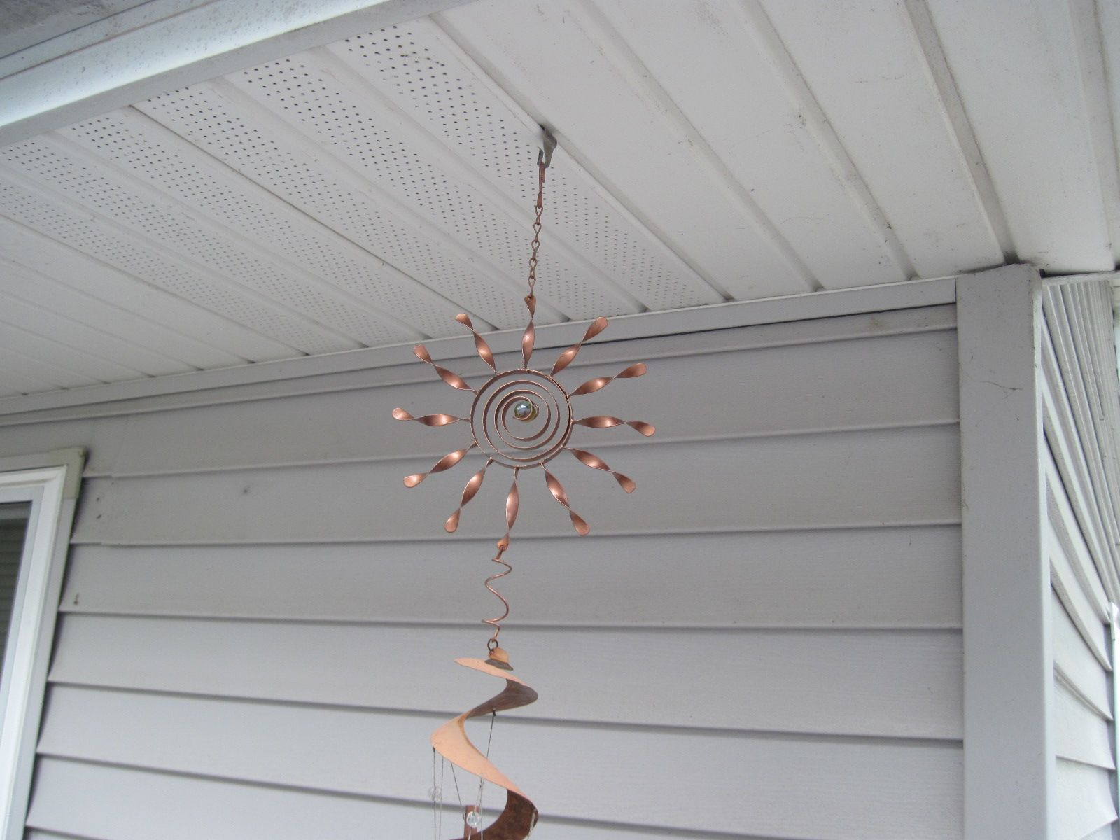 hang wind chime from soffit for our home pinterest wind hang wind chime from soffit