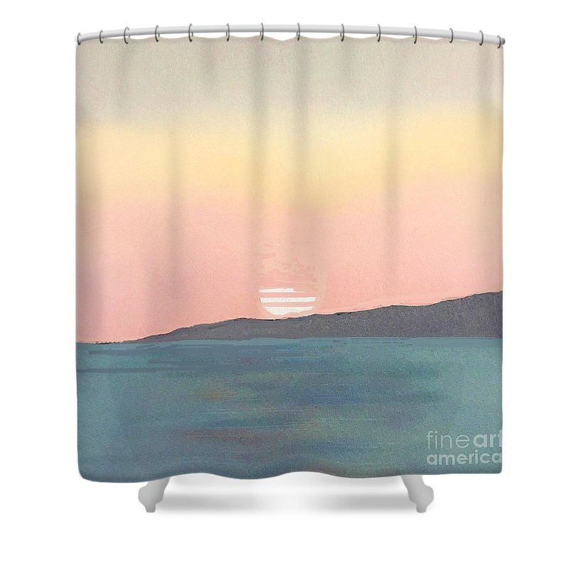 Sea Sunset Shower Curtain For Sale By Vesna Antic With Images