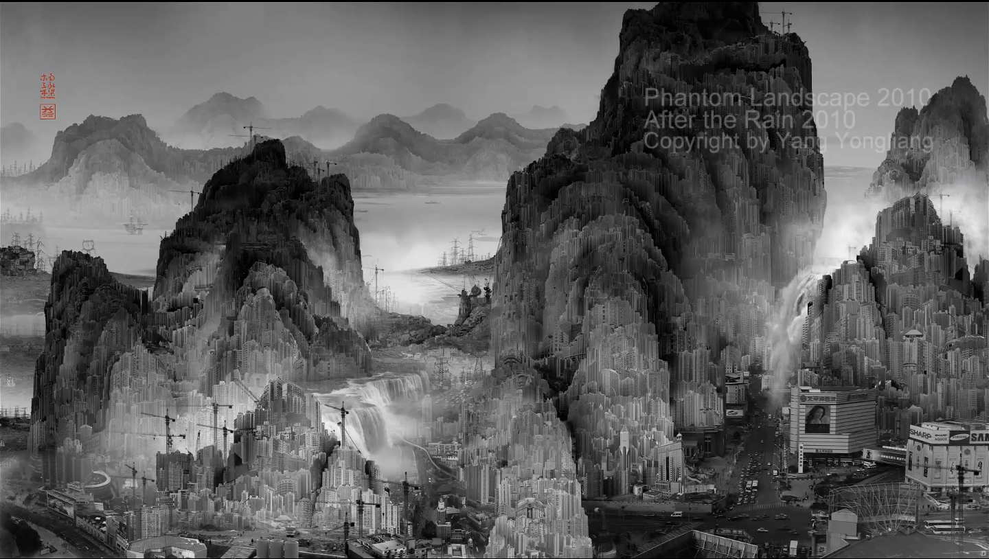 Yang Yongliang Brings Chinese Landscape Painting Into The 21st Century | The Creators Project