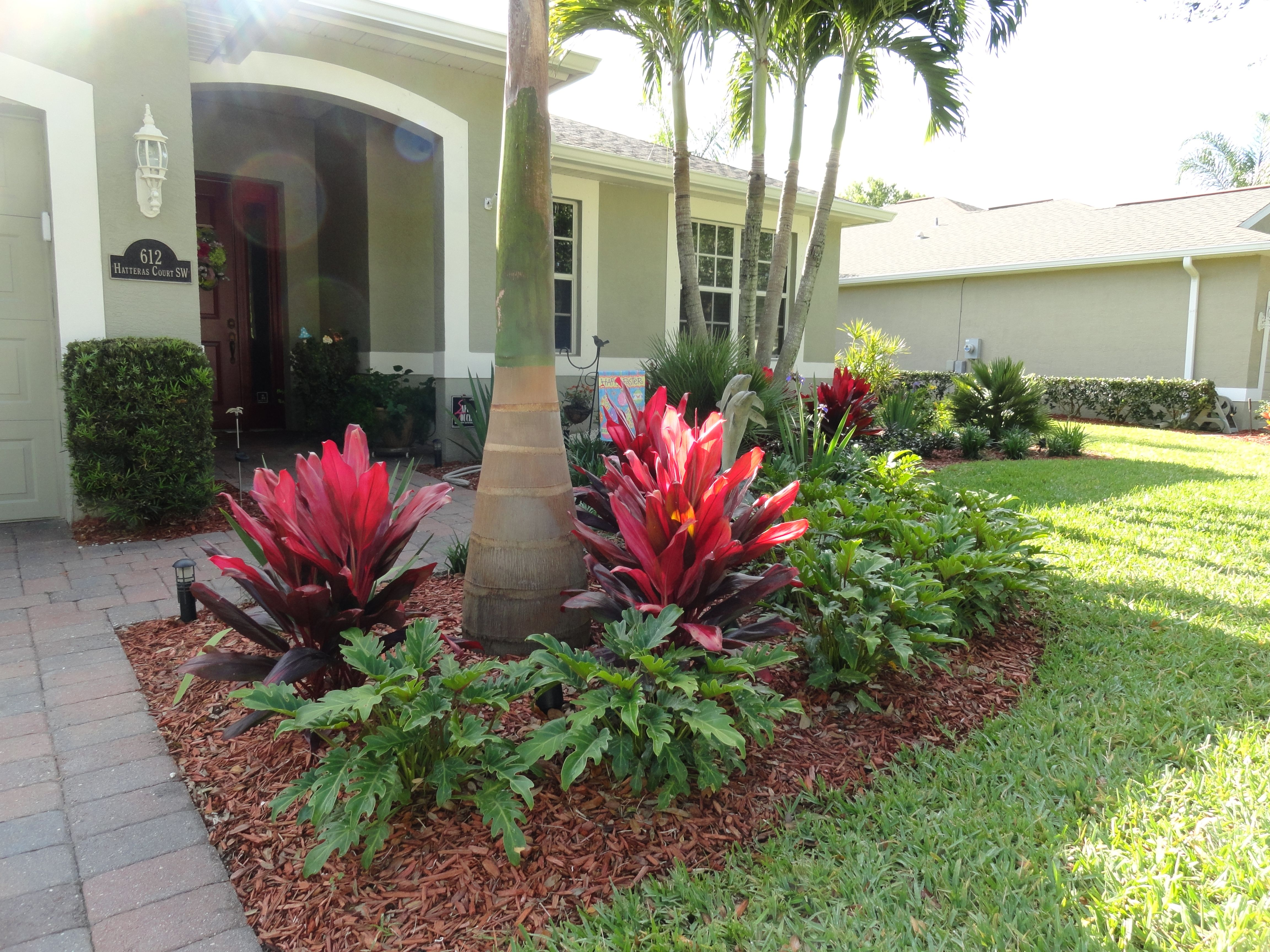 Low maintenance tropical landscaping in vero beach Low maintenance garden border ideas