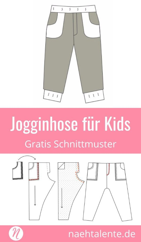 Freebook - Jogginhose für Kids #freebookschnittmuster