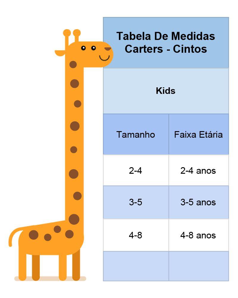 bc7d5565e43 Tabela de Medidas - Carters - cintos | Rafaella | Roupas, Tabela de ...