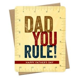 Wooden card - Dad You Rule!