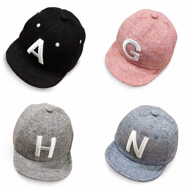 299566156 Spring Summer Baby Letter Cap Baby Kids Boy Adjustable Baseball Caps Boys  Girl Hats Children Snapback Hip-Hop Sun Hat(China)