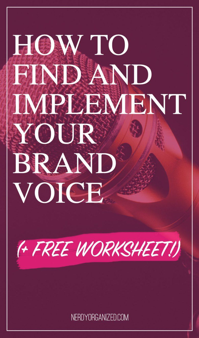 How To Find Your Biz Or Blog S Brand Voice Free Worksheets Brand Voice Worksheets Free How To Get Followers