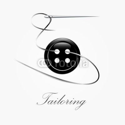 Logo Tailoring On White Background Vector Handmade Logo Sewing Logo Tailor Logo
