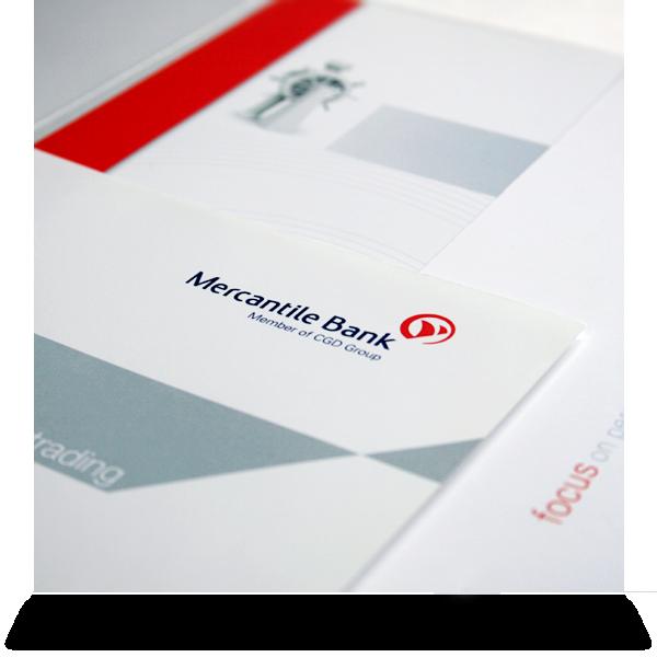 Mercantile Bank:   Sales brochure pack offering sheet detail.