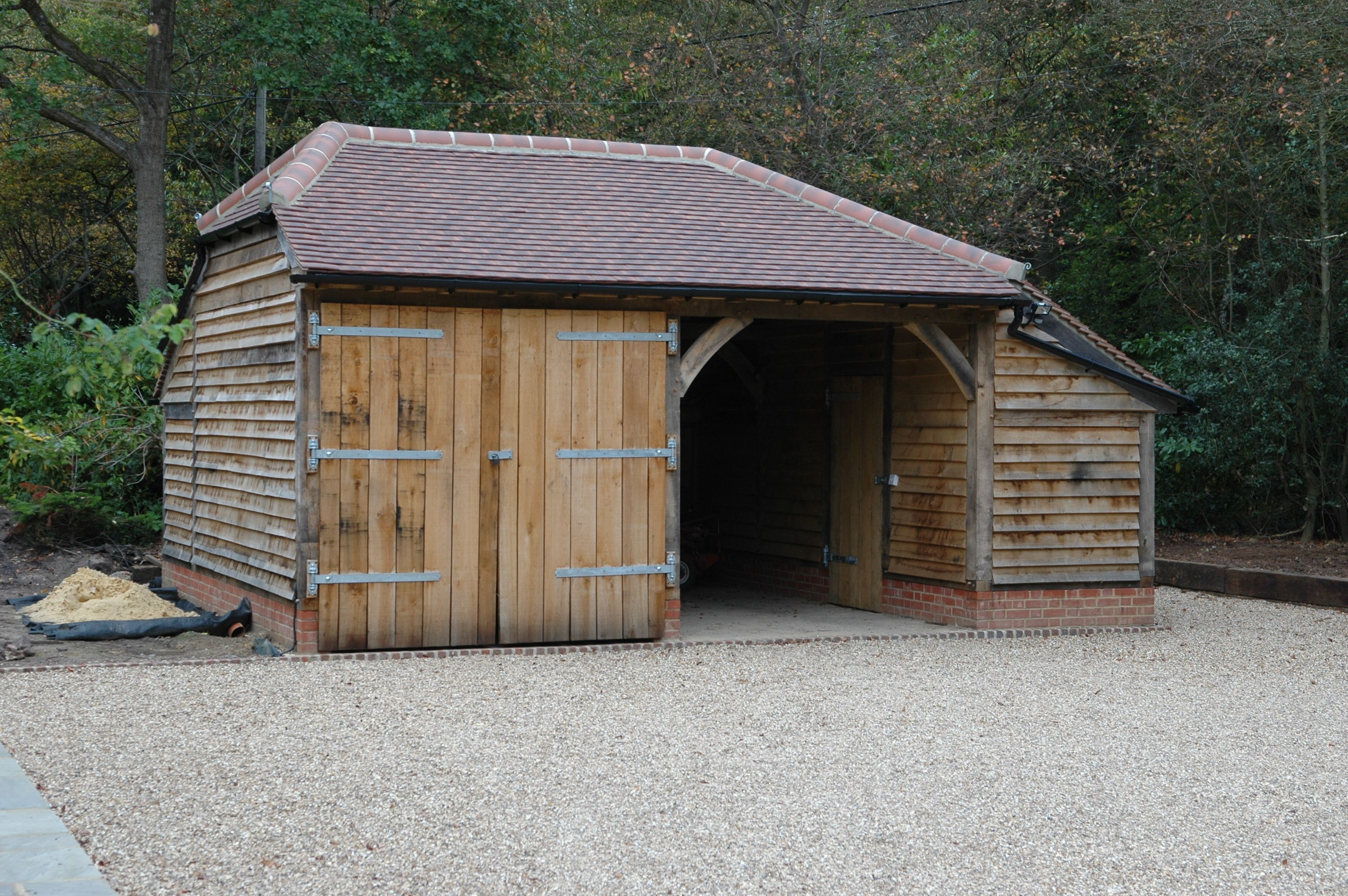 oak garage barns sheds and other structures pinterest garage