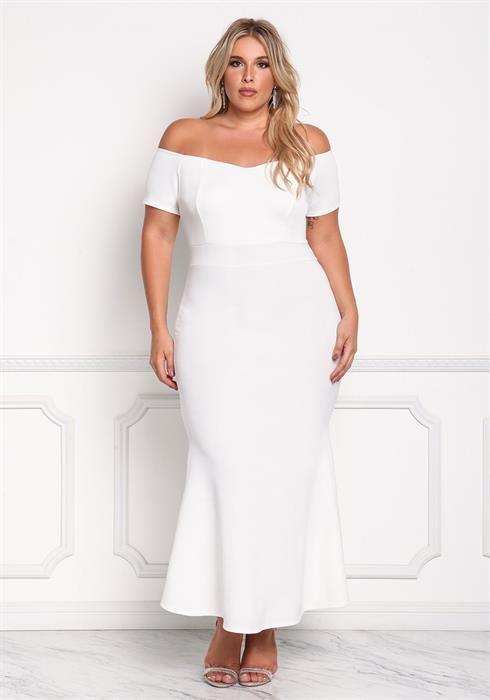 Plus Size Off Shoulder Mermaid Maxi Gown   Faves   Pinterest ...