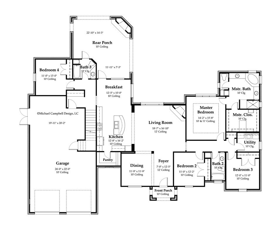 2897 Sq Ft With Bonus Space Above Garage Floor Plans French