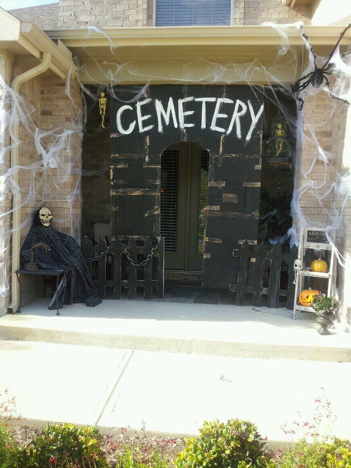 Our Front Porch All Made From Old Cardboard Boxes Halloween