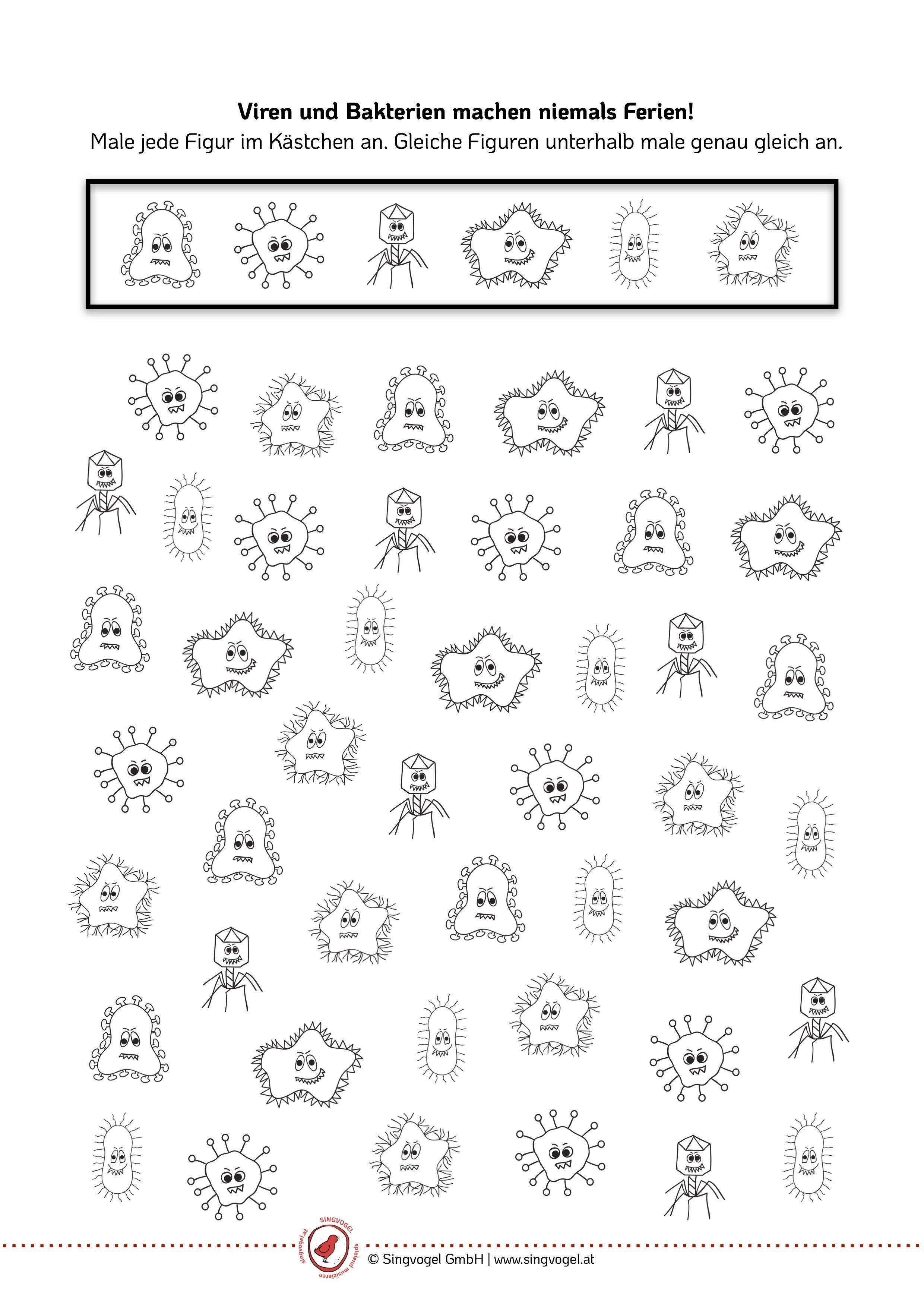 Viren Und Bakterien Kunstunterricht Kunstunterricht Ferien