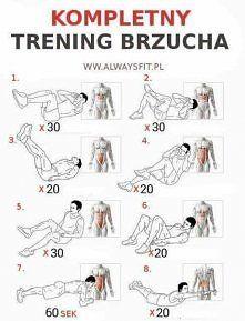 cwiczenia na brzuch | Best workout plan, Fun workouts, Abs workout