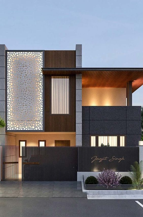 Fachadas de casas modernas seg n el pa s fachadas de for Jardines interiores de casas modernas