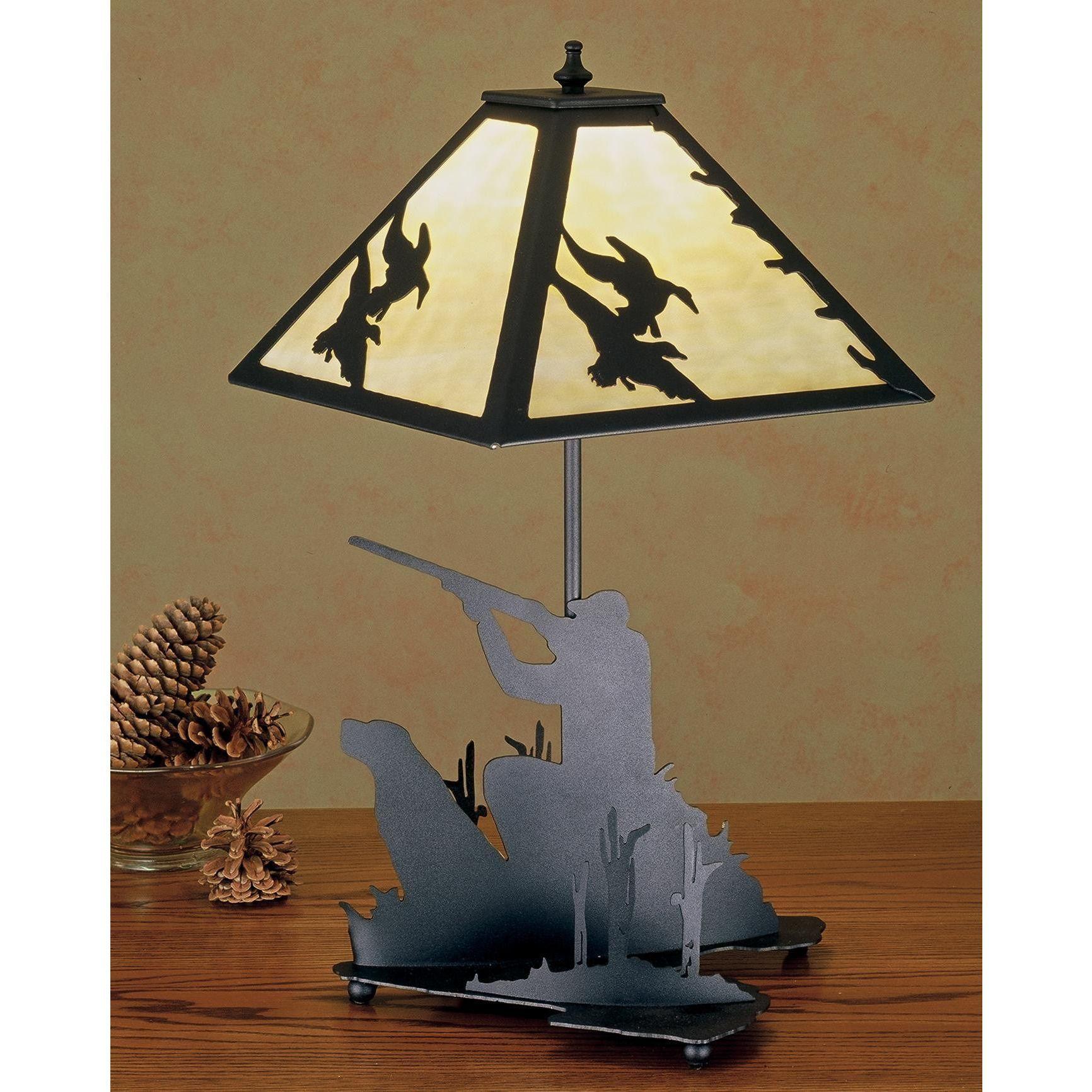 20 Inch H Duck Hunter W/Dog Table Lamp - Custom Made