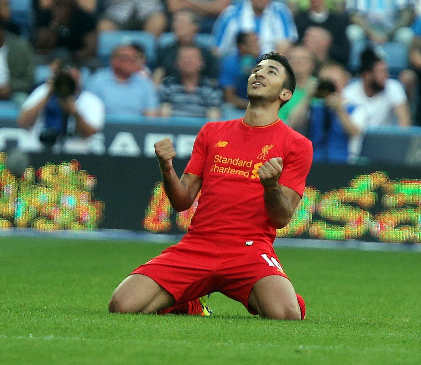 Huddersfield Town v Liverpool pre sezóna priateľský - Marko jangresner otvára skóre.
