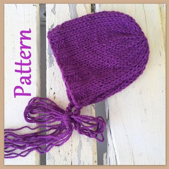 Easy Baby Bonnet Knitting Pattern Newborn Bonnet Pattern