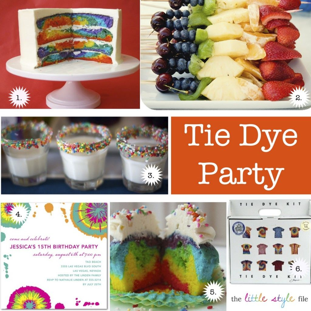 Tied Dye Birthday Party