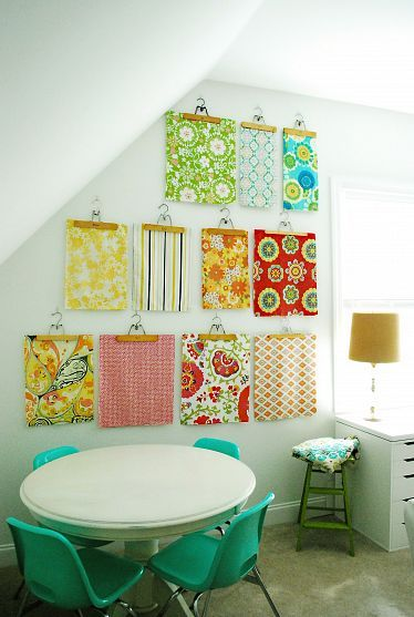Creating A Wow Wall Decor Decorating Small Spaces Fabric Wall