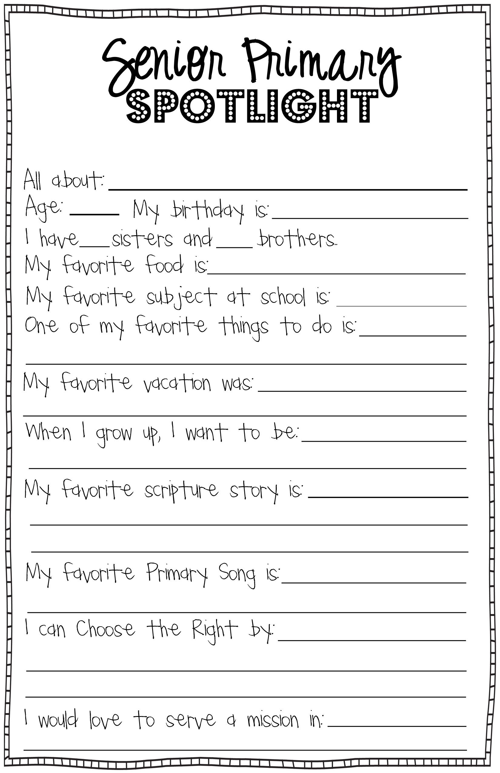 New Beginnings Teens Worksheet