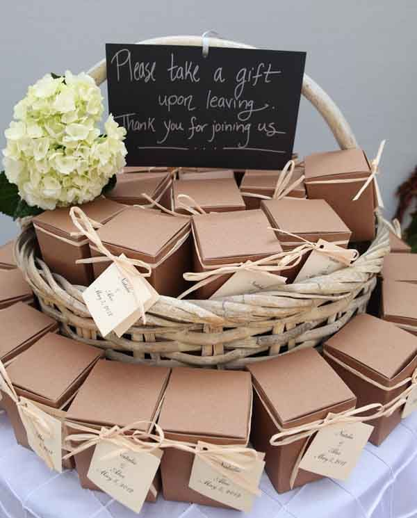 Plase Take A Gift Guest Wedding Favors Upon Leaving Thank You For Jouning Us Bo