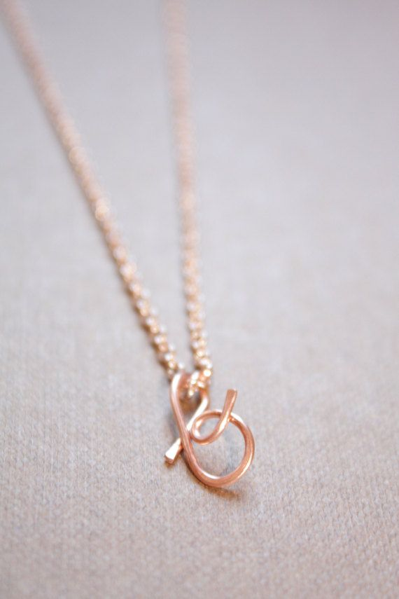 letter b necklace silver gold rose gold initial by diandde on etsy