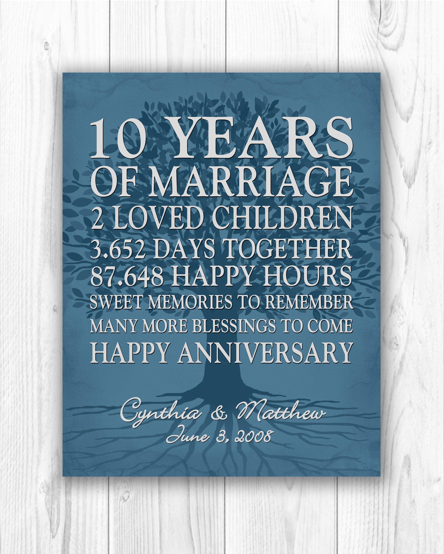 Newest Screen 10th Wedding Anniversary Gift 10th Anniversary Gift