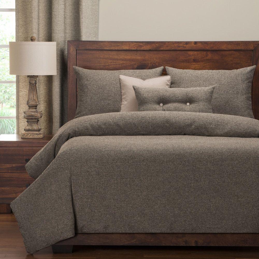 Pologear belmont greystone luxury duvet cover set bedroom