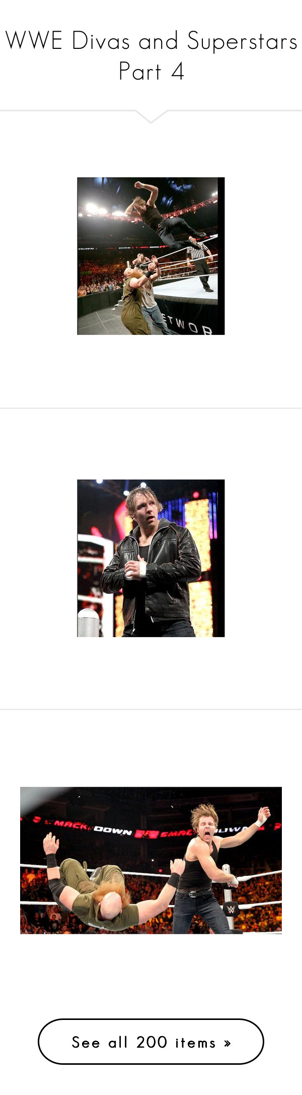 """""""WWE Divas and Superstars Part 4"""" by belabmilagres ❤ liked on Polyvore featuring paige, wwe, home, home decor, small item storage, accessories, paige wwe, dean ambrose, guys and people"""