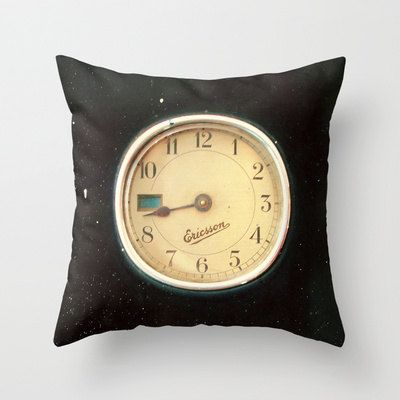 Pillow Cover Retro Clock. Fine Art Photography. by happeemonkee, $40.00
