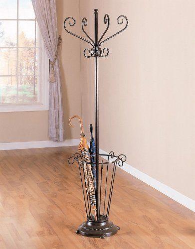 Bronze Coat Rack Umbrella Stand Metal Hat Coatrack by ...