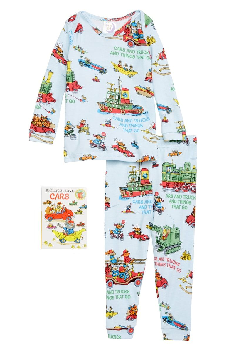 Books to Bed Children/'s Richard Scarry/'s Cars /& Trucks /& Things That Go Pajamas