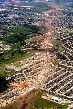 May 3 1999 Moore Oklahoma Tornado Path Oklahoma Tornado Wild Weather Tornado