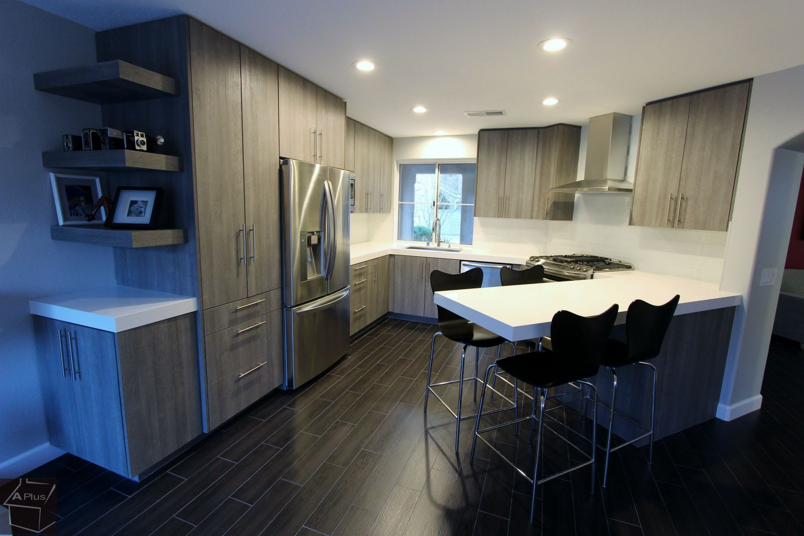 Modern style kitchen remodel with sophia line cabinets santa ana