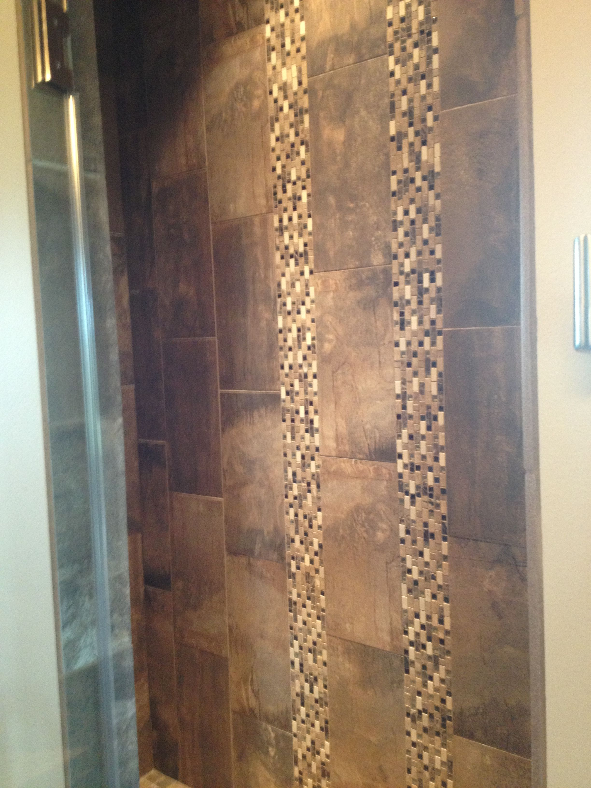 Master Shower In 12x24 Tile Staggered Vertical Install With 2