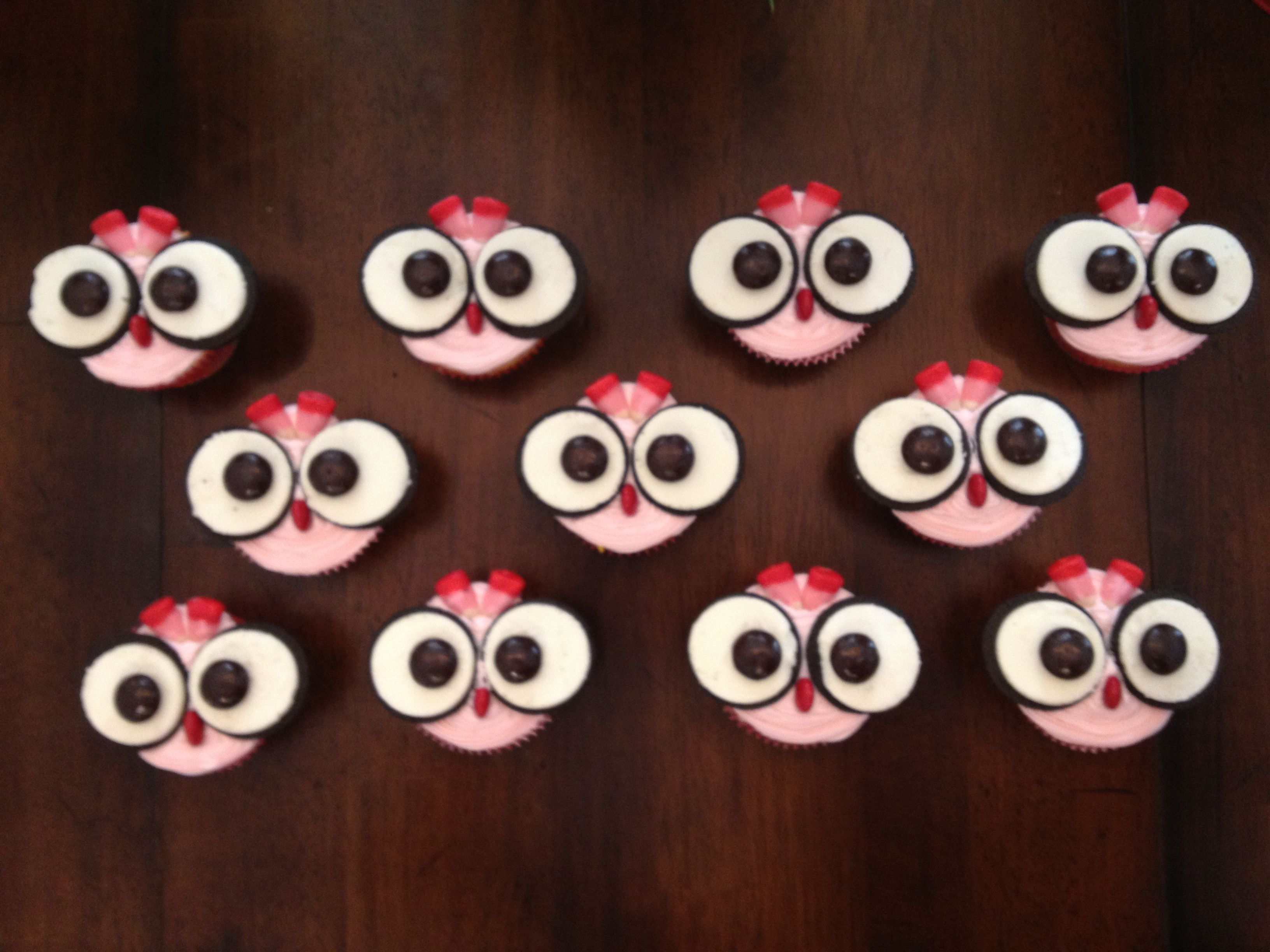 Owl Cupcake Cake Toppers