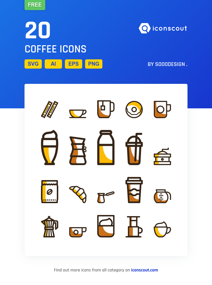 Download Download Coffee Icon pack - Available in SVG, PNG, EPS, AI ...