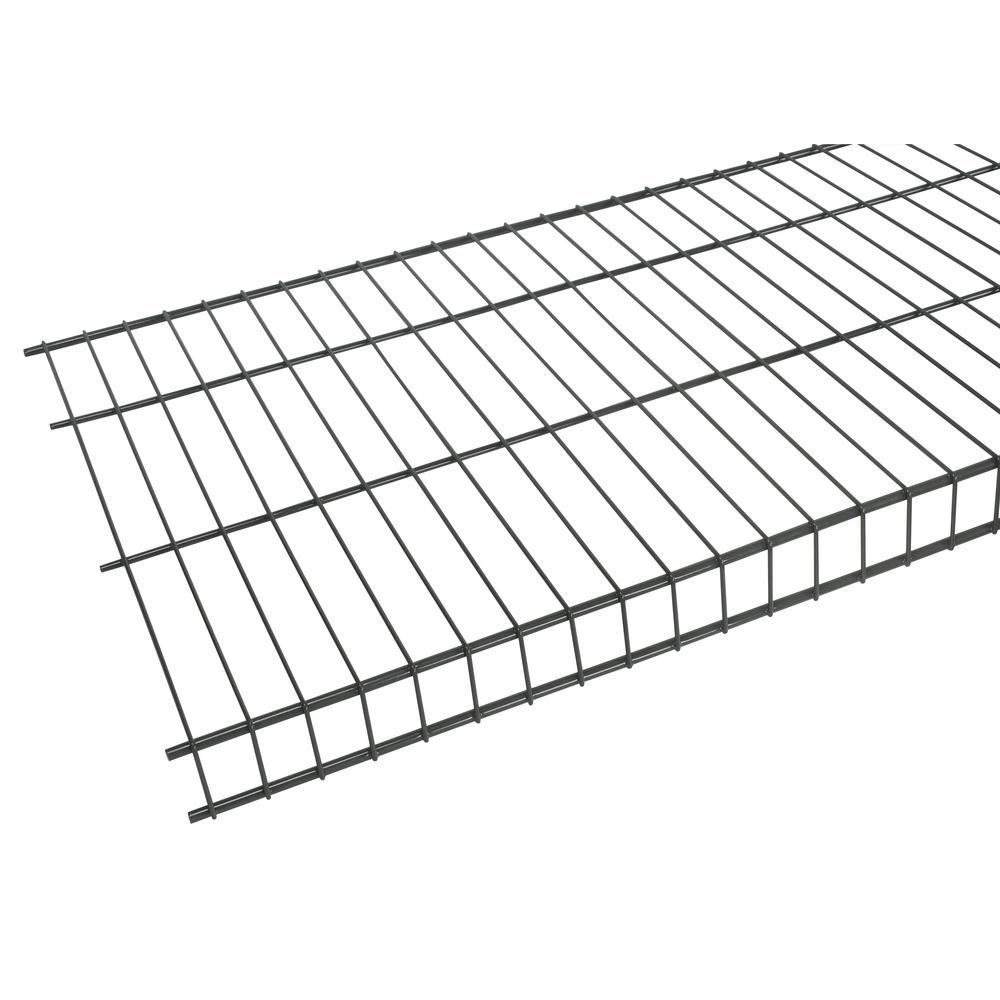 Rubbermaid Tough Stuff 8 Ft X 20 In Wire Shelf Fg3f5118gray The Home Depot Wire Shelving Wall Storage Systems Rubbermaid