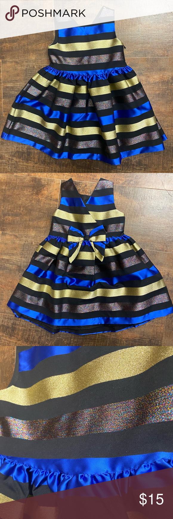 Gymboree Girls Party Dress Gymboree Girls Size 4t Party Dress Black Blue Gold And Multicolor Stripes Now In 2020 Girls Party Dress Gymboree Girl Gymboree Dresses [ 1740 x 580 Pixel ]