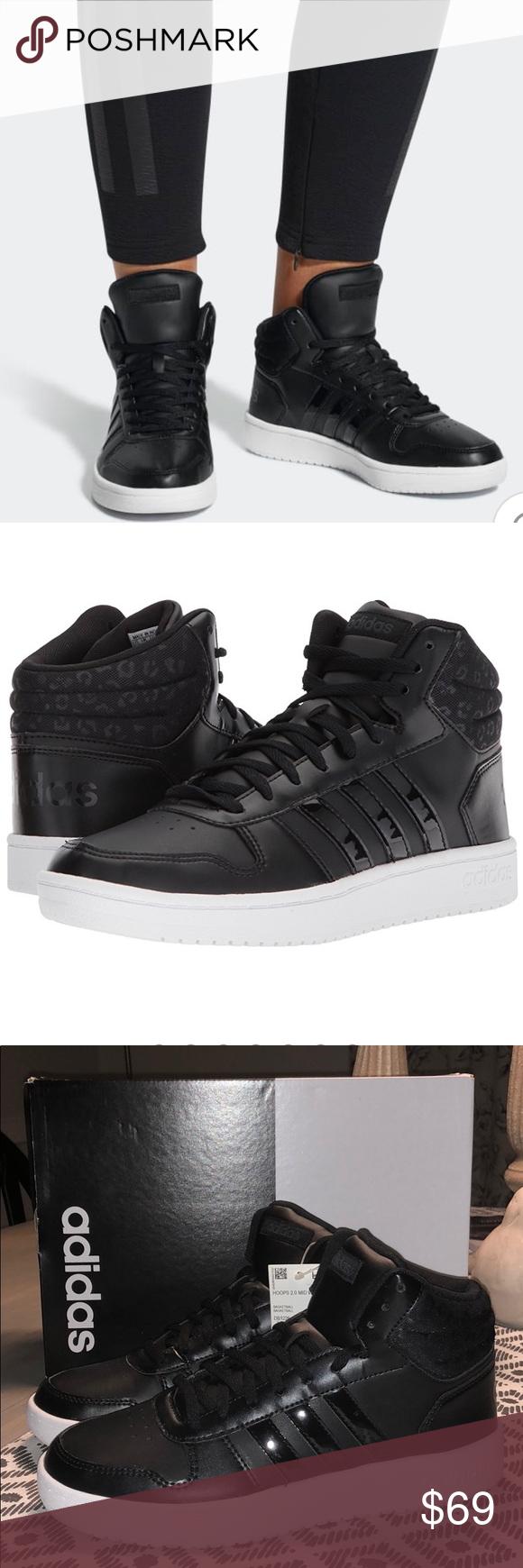 Adidas Hoops 2.0 Mid - Black/Black