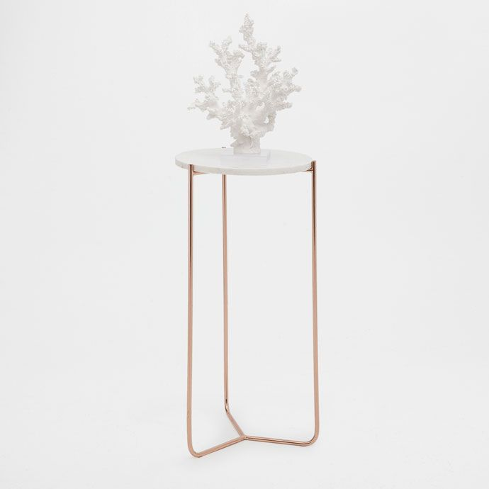 Runder Beistelltisch Aus Marmor Mobel Dekoration Zara Home