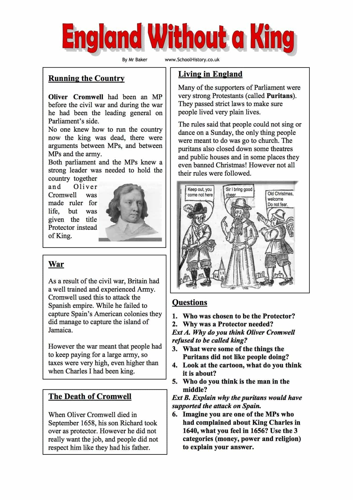 Oliver Cromwell England Without A King