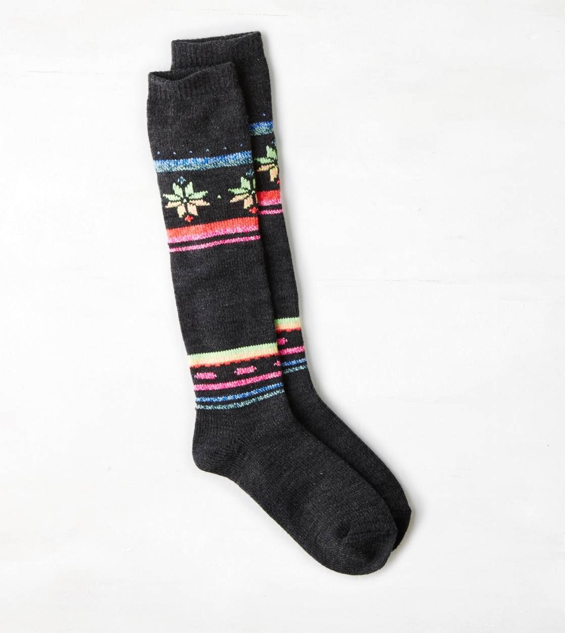 AEO Striped Print Boot Sock SOCKS!!