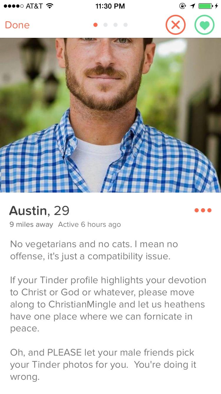 Beispiel christian dating profile