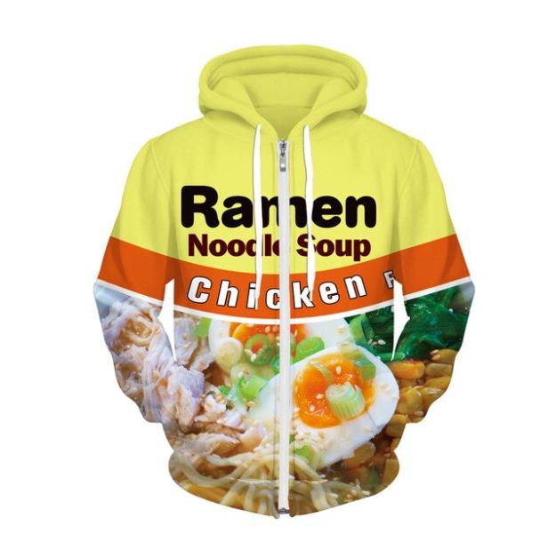 Autumn Winter Men//women joggers Print Ramen Noodle Sweats Food Hip Hop Pants US