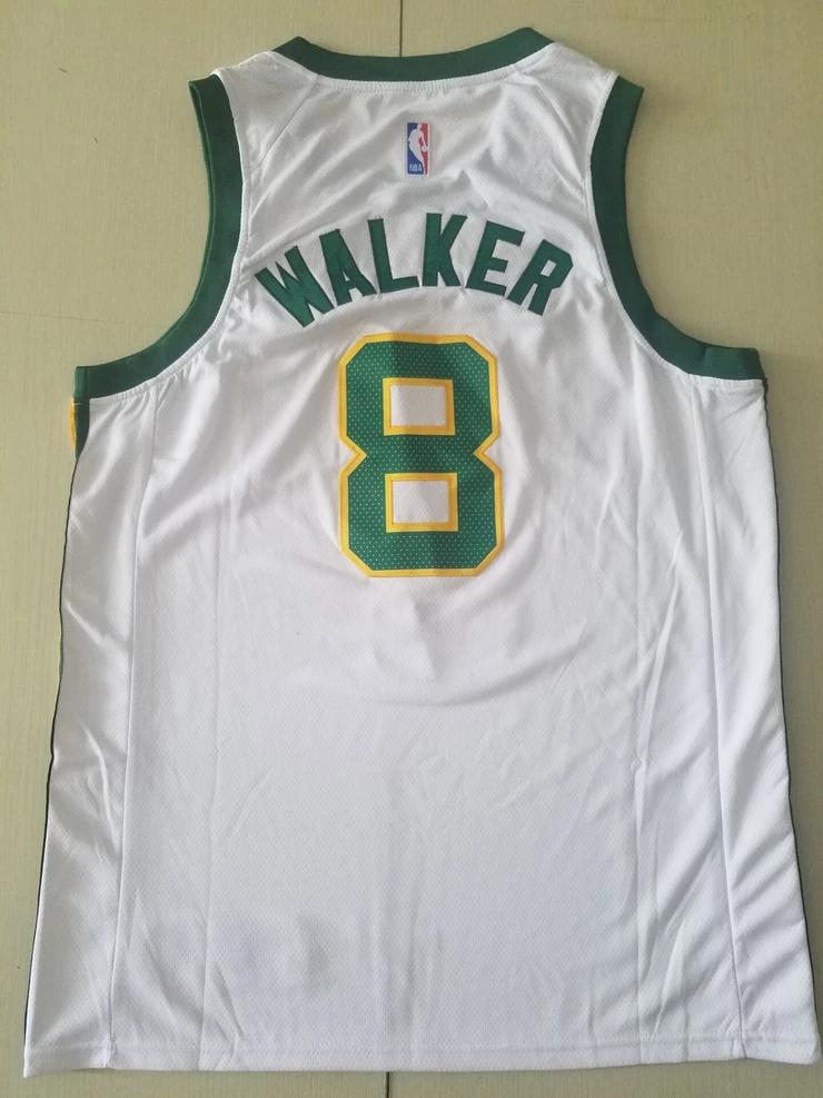 New Men 8 Kemba Walker Jersey White Boston Celtics Jersey Swingman Fan Nreball Jersey Nba Jersey Cheap Nba Jerseys