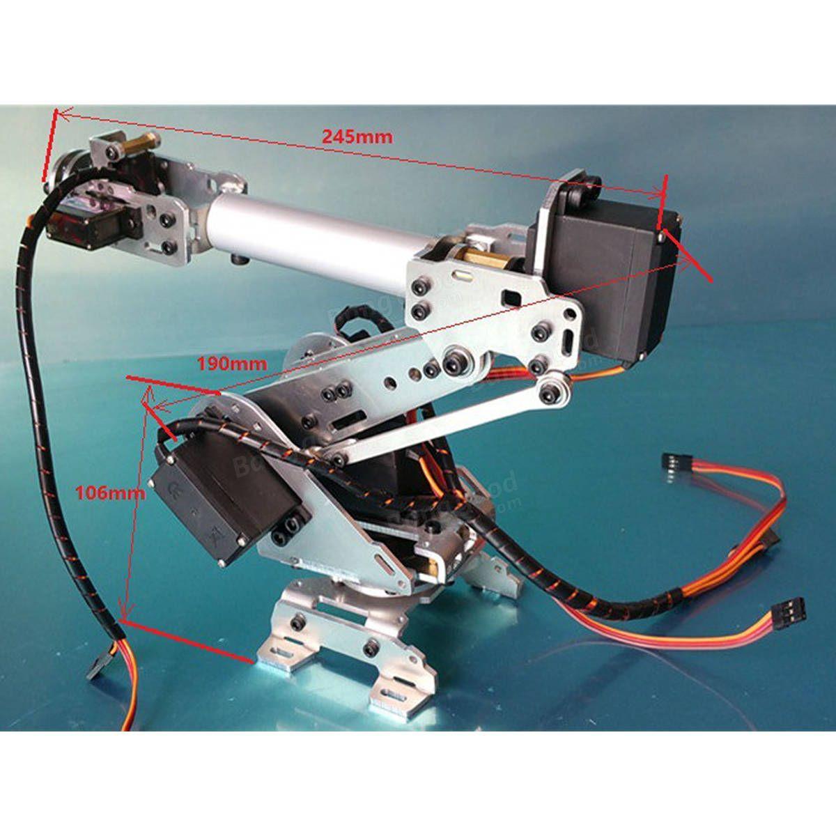 6DOF Mechanical Robot Arm Claw With Servos For Robotics