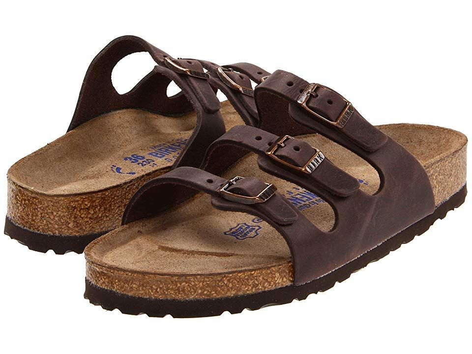 3855aea29 Birkenstock Florida Soft Footbed - Leather Women's Sandals Habana Oiled  Leather