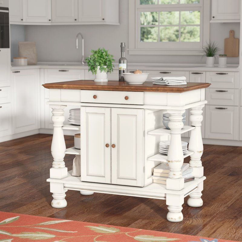 Attractive Home Styles Americana Kitchen Island, Antique White Finish