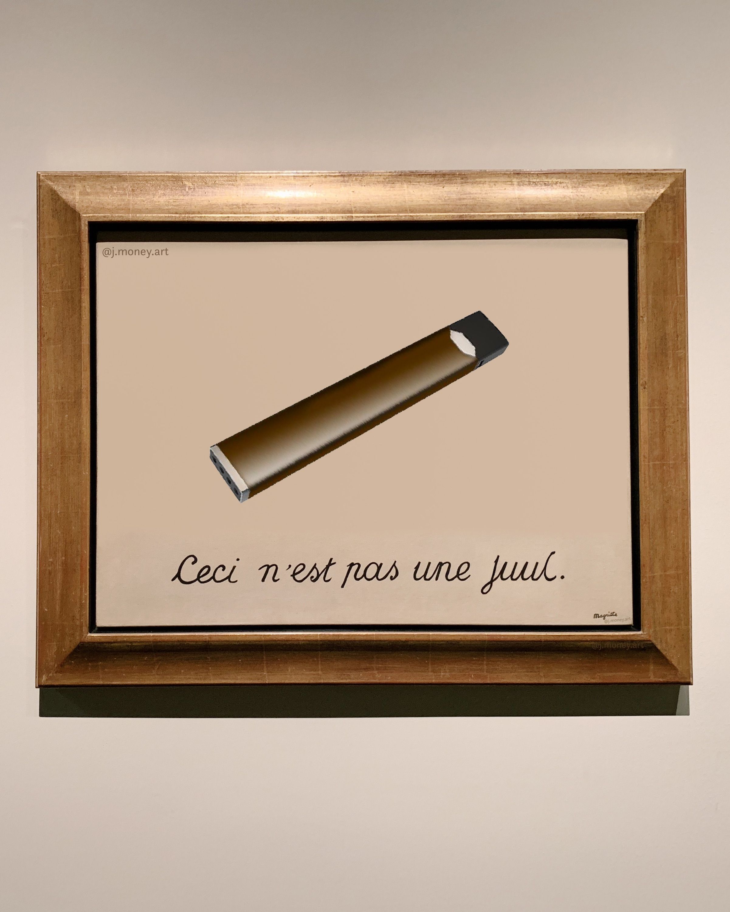 This Is Not A Juul Art Memes Art History Rene Magritte